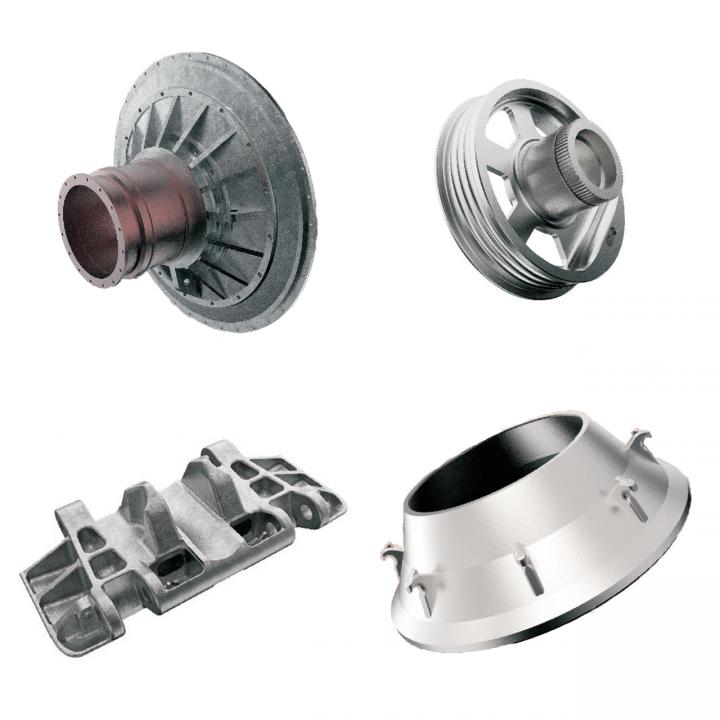 Изделия из отливок с механической обработкой и без механической обработки